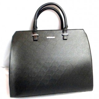 FACE , BLACK DOUBLE HANDAL HAND BAG