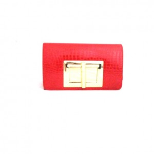 CROC,RED CLUTCH BAG